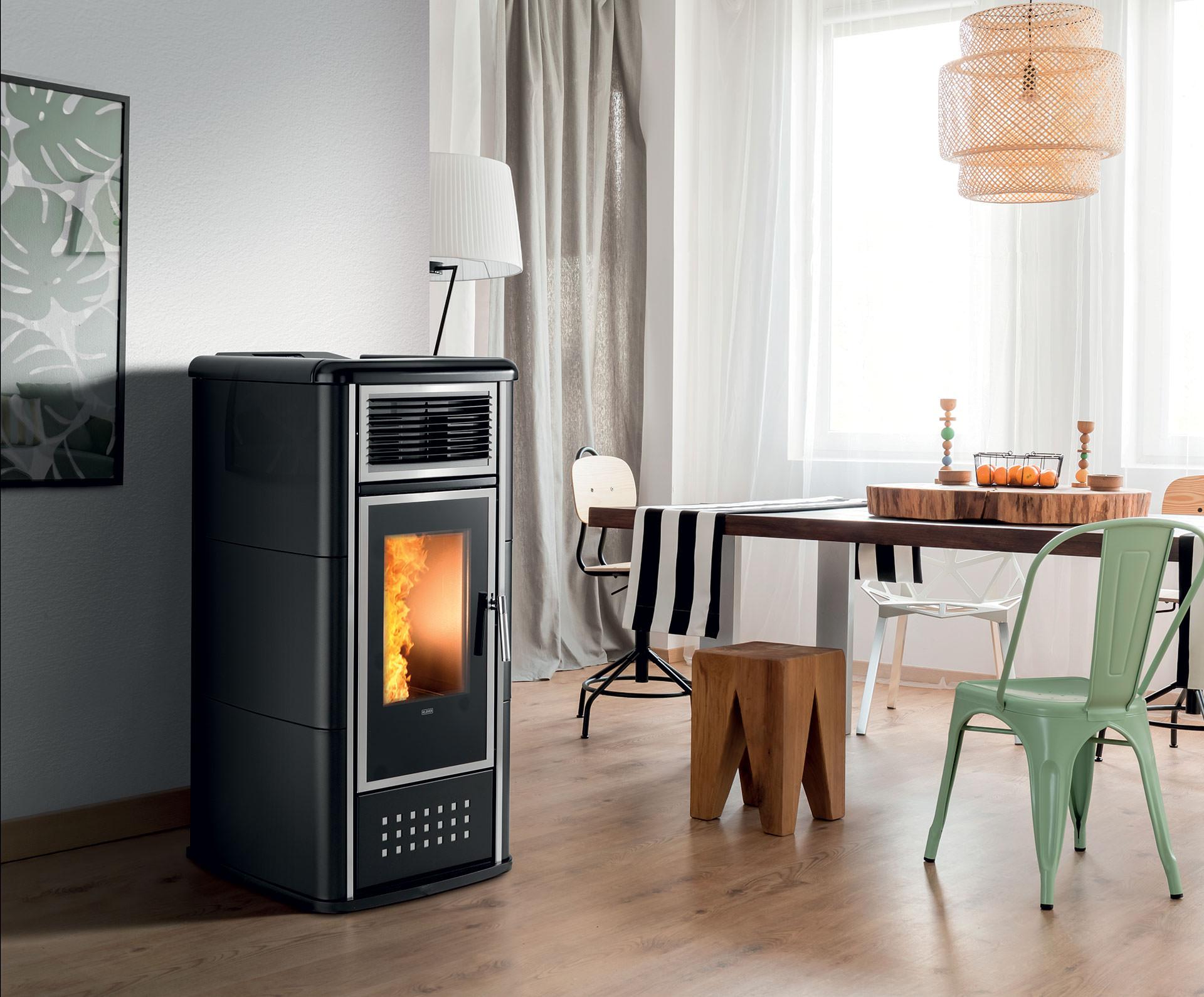 Tubi Aria Calda Stufa Pellet termostufa a pellet belvedere 22 top - klover | ciesse